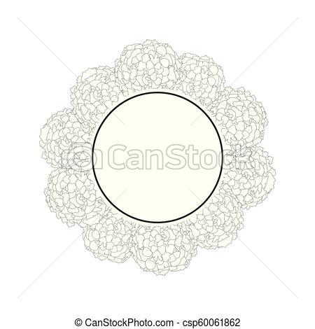 450x470 Marigold Banner Wreath Outline. Marigold Flower Outline