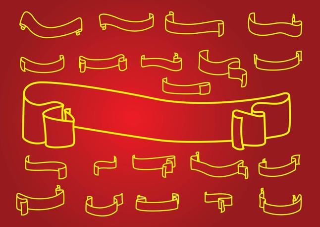 646x457 Outline Banner Vectors Vector Free Download