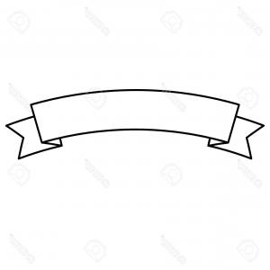 300x300 Stock Illustration Flat Ribbons Banners Outline Arenawp