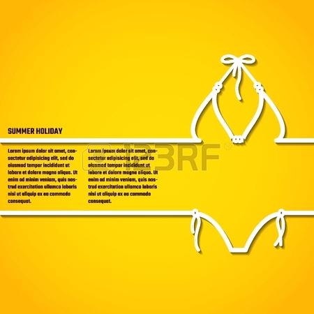 450x450 Vector Illustration Of Outline Summer Holiday Concept For Design
