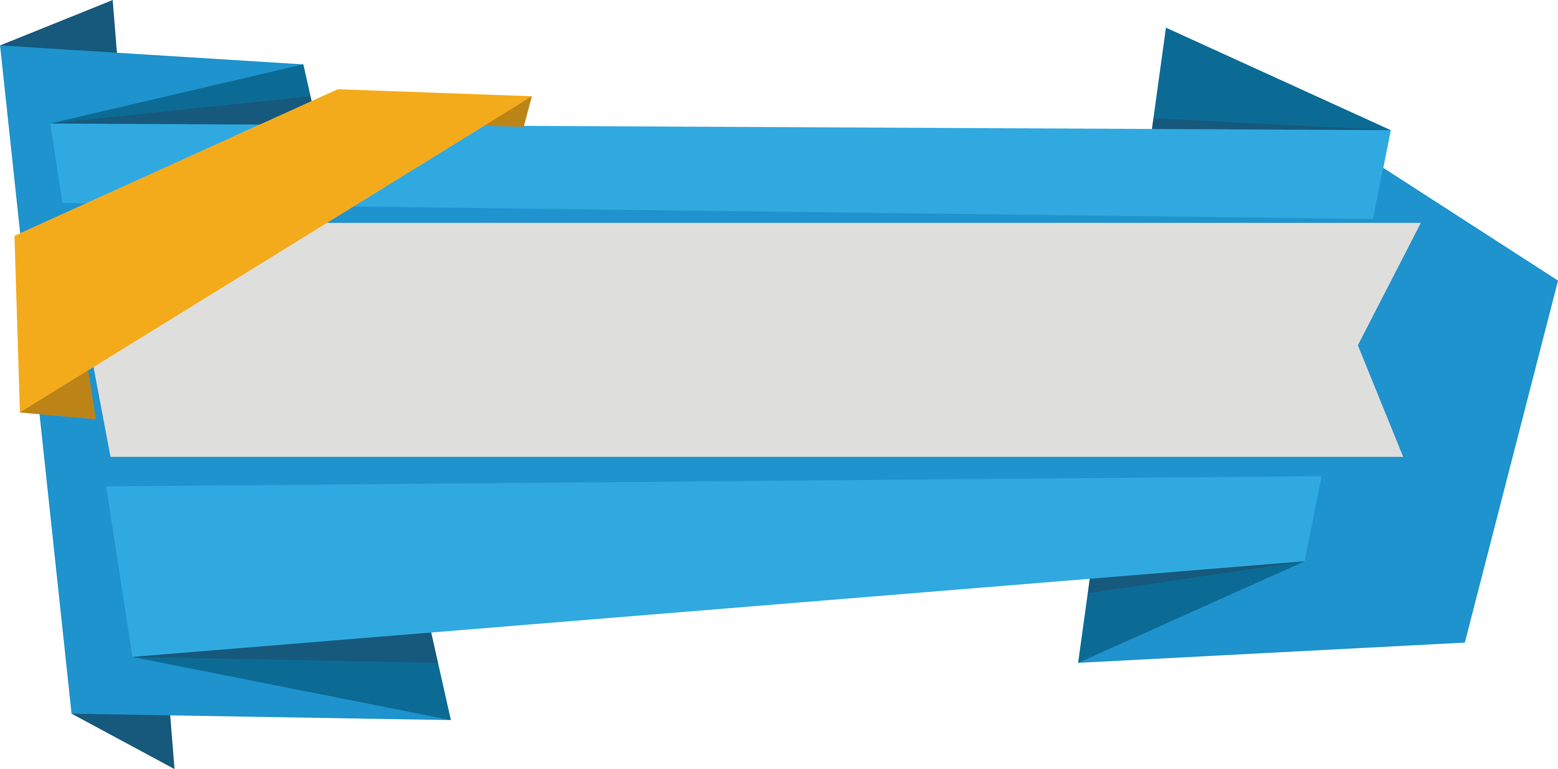 5910x2917 Blue Banner Vector Free Png