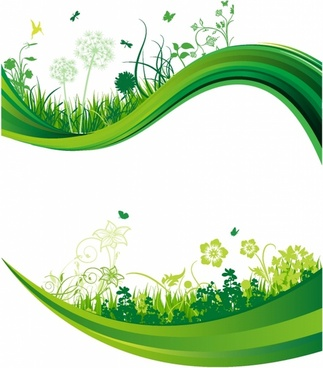 323x368 Vector Green Banner Free Vector Download (15,499 Free Vector) For