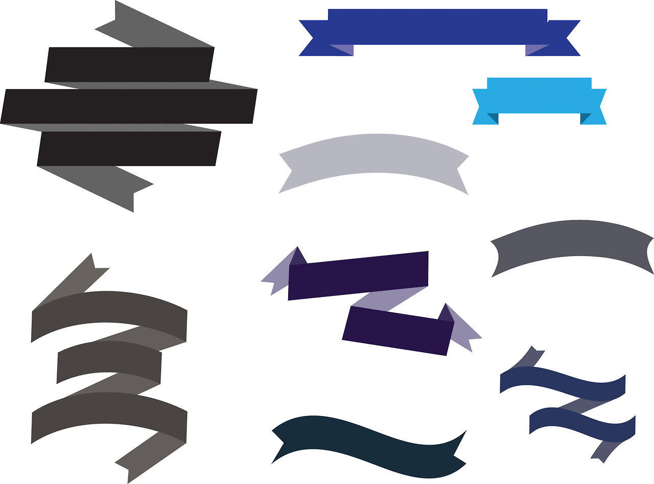1280x947 Elements Clipart Ribbon Banner Template