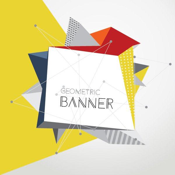 600x600 Geometric Banner Vector Graphic Vector Free Vector Download In