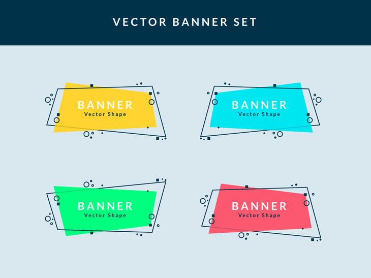 730x547 Vector Banner Set