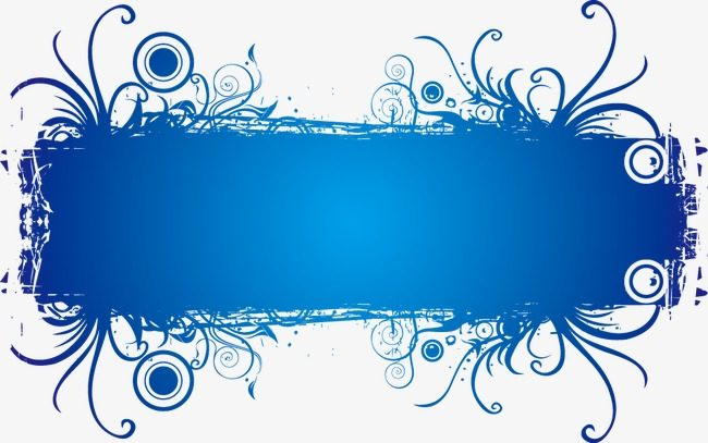 650x407 Blue Banner Vector Png Theveliger