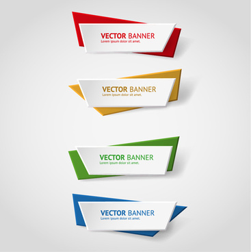 367x368 Colored Origami Banners Vectors Png Images, Backgrounds And