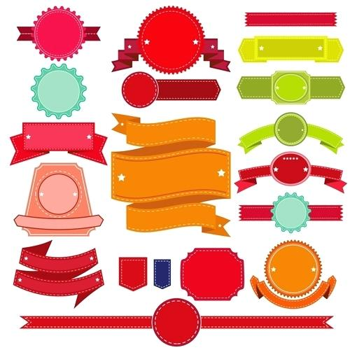 500x500 Ribbon Banner Vector Banners Illustrator Free White Crazywind