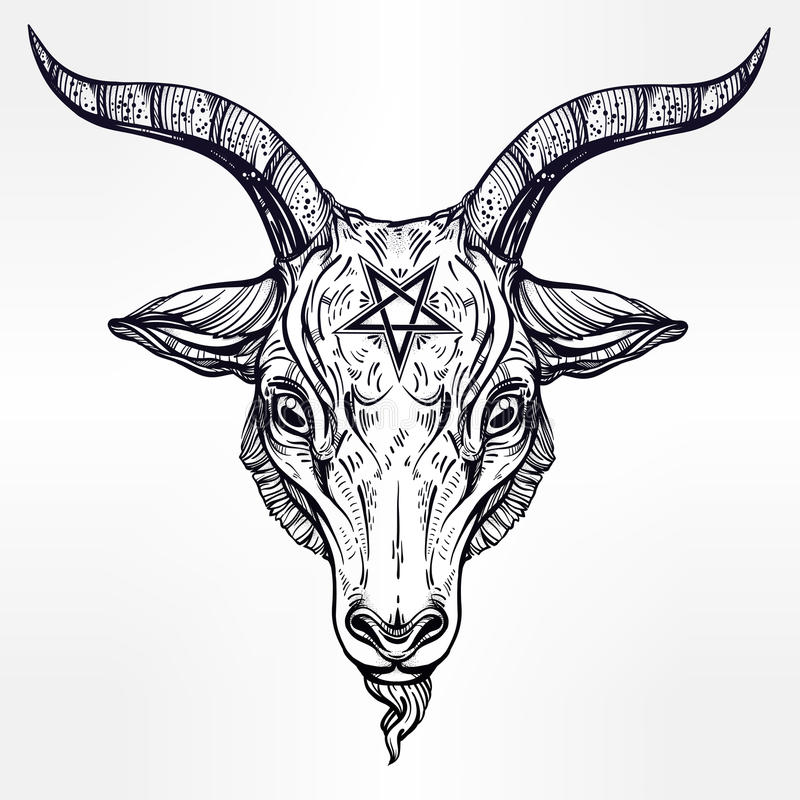 800x800 Collection Of Baphomet Goat Head Drawing High Quality, Free