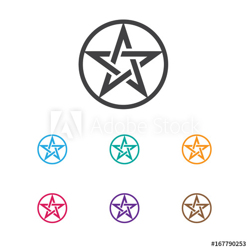 500x500 Vector Illustration Of Religion Symbol On Baphomet Symbol Icon