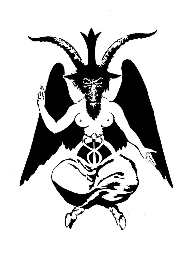 744x1074 Collection Of Baphomet Line Drawing High Quality, Free