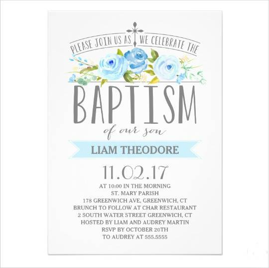 540x537 Baptism Invitations