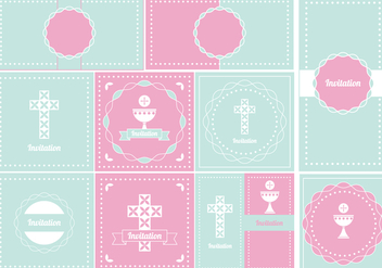 352x247 Baptism Vector Invitation Free Vector Download 149677 Cannypic