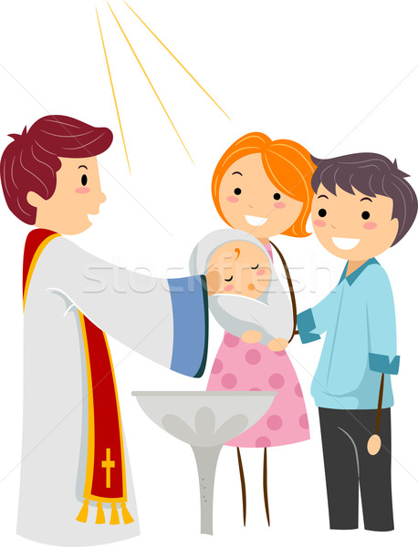 458x600 Baptism Vector Illustration Lenm ( 980988) Stockfresh