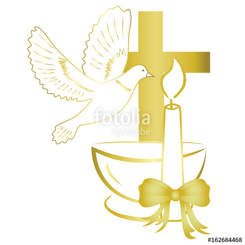 499x500 Gold Design For Sacrament Of Baptism Invitation, Card. Stock