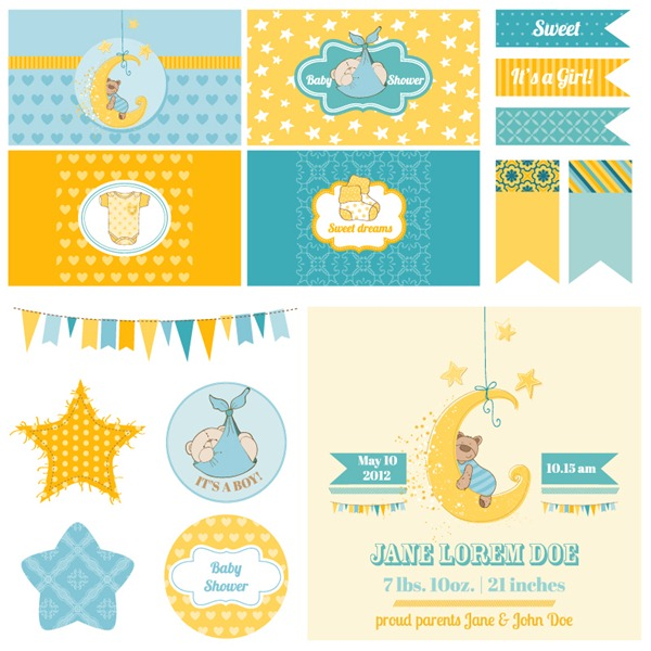 600x600 Infant Baptism Playful Design Elements Vector Graphics My Free
