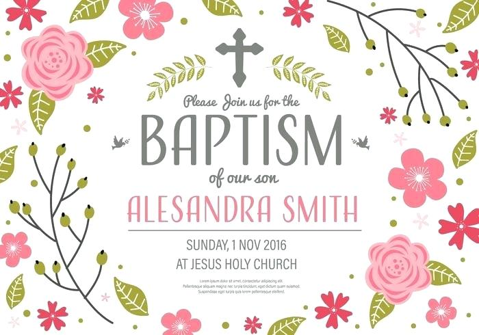 700x490 Invitation Baptism Template Vector Psd Free
