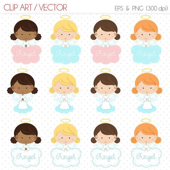 570x570 Little Angel Clipart Baptism Vector