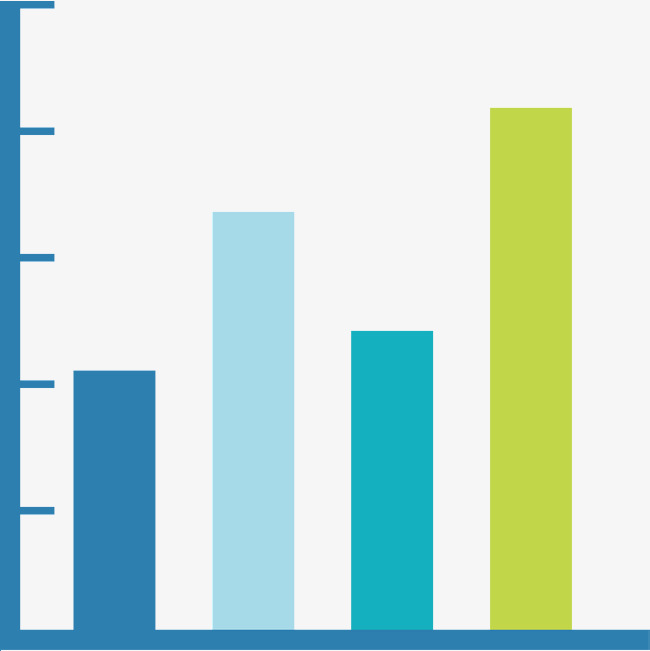 650x651 Color Bar Graph Coordinate, Color Vector, Science And Technology