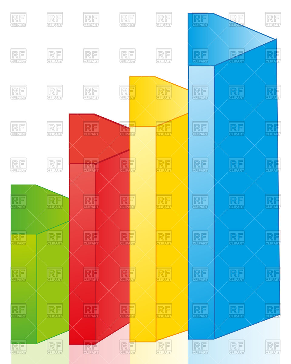 960x1200 Colourful Bar Graph On White Background