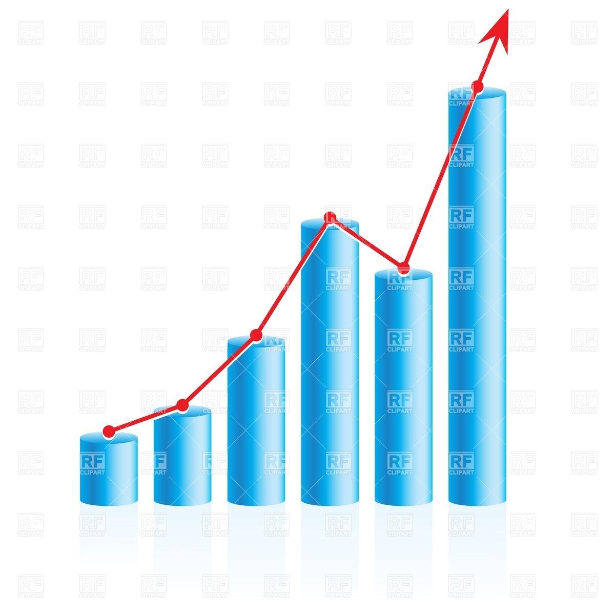 1200x1200 Rising Up Business Bar Graph Vector Image Vector Artwork Of