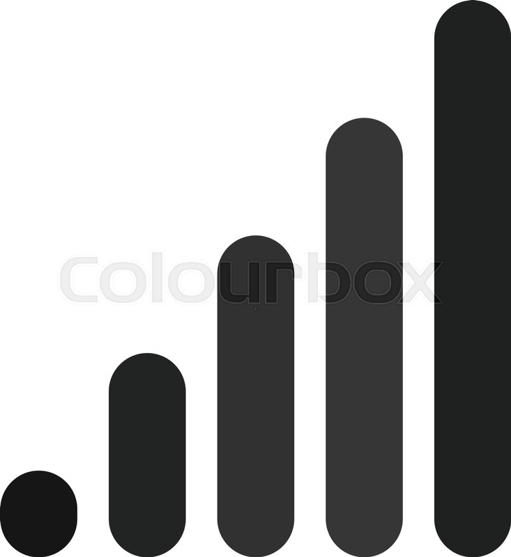 733x800 Bar Chart Bar Graph Symbol. Rounded Rectangle Chart Stock