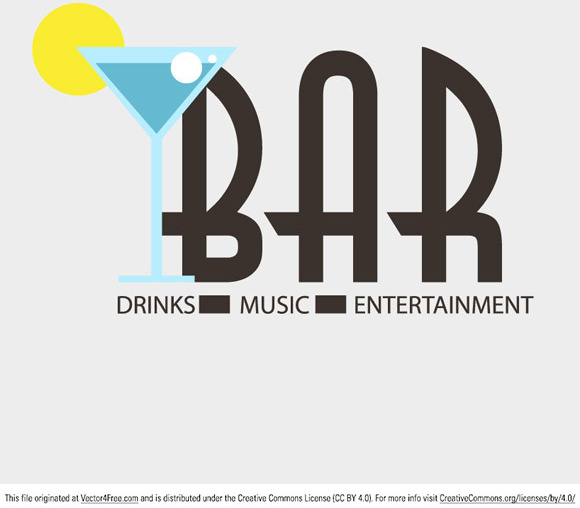 580x508 Bar Logo Vector Free Vector In Adobe Illustrator Ai ( .ai ) Vector