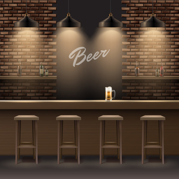 600x600 Beer Bar Interior Design Vector