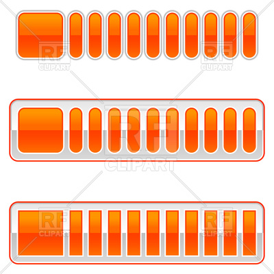 400x400 Blank Orange Loading Bar Vector Image Vector Artwork Of Design