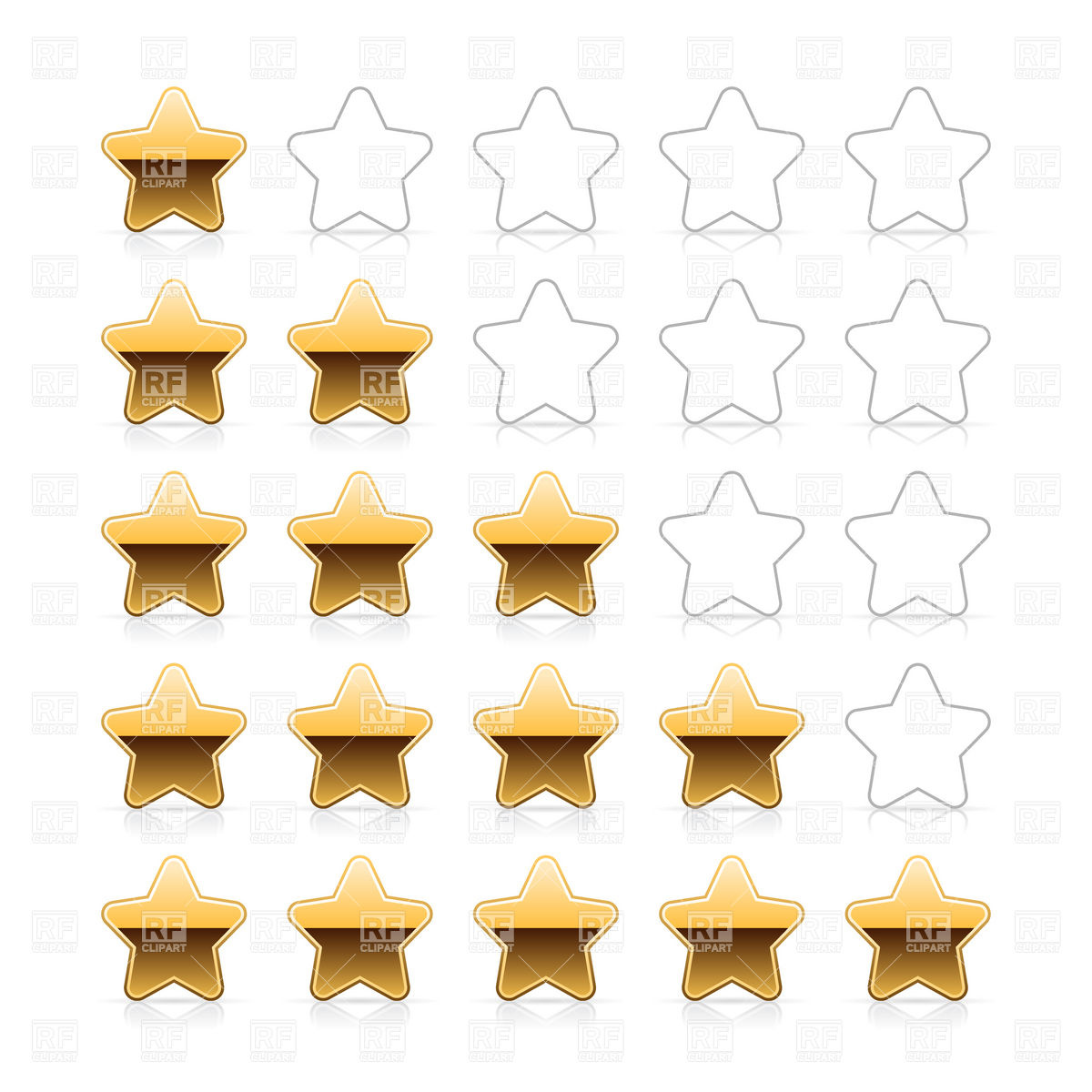 1200x1200 Line Of Golden Stars