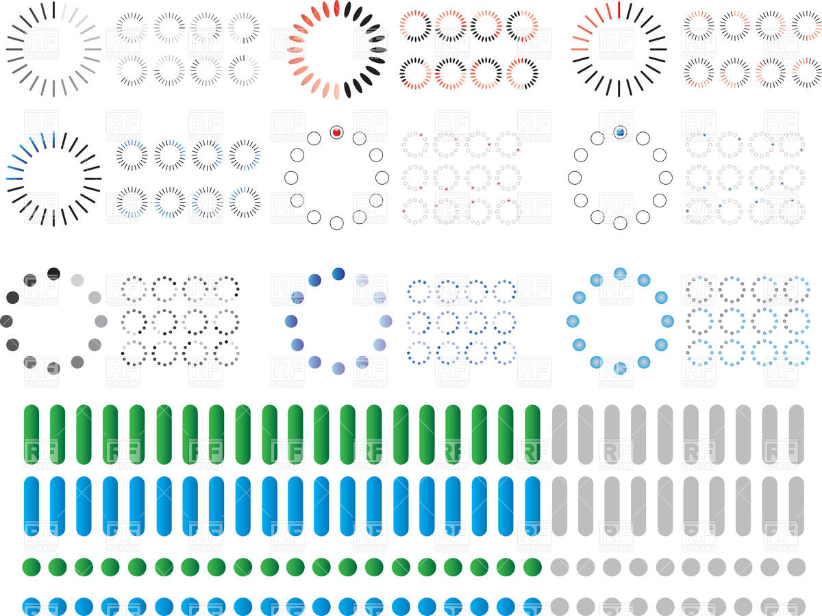 1200x900 Preloaders And Circle Progress (Loading) Bar Vector Image Vector