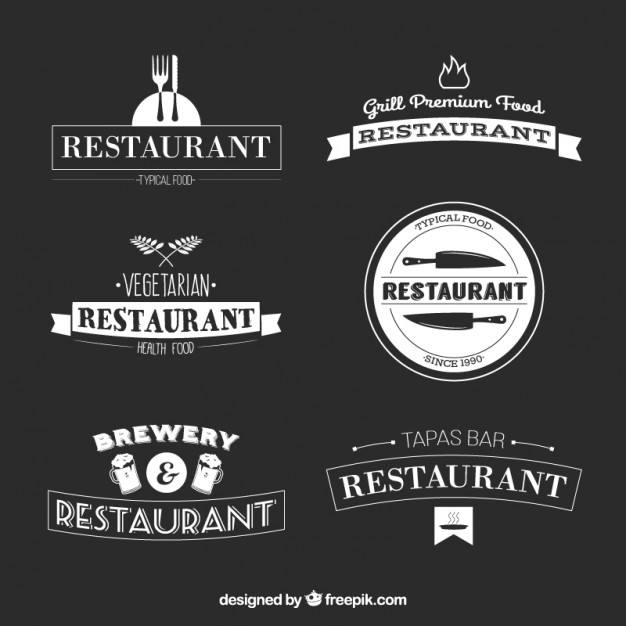 626x626 Restaurant Bar Logo Collection Vector Free Download