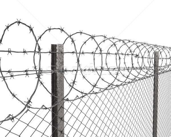 600x480 Barbed Wire Isolated Stock Photos, Stock Images And Vectors