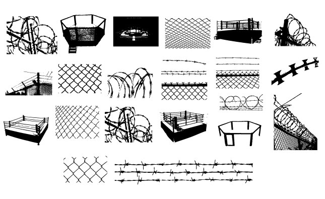 645x395 Adobe Illustrator Barbed Wire Amp Chain Link Vector Pack