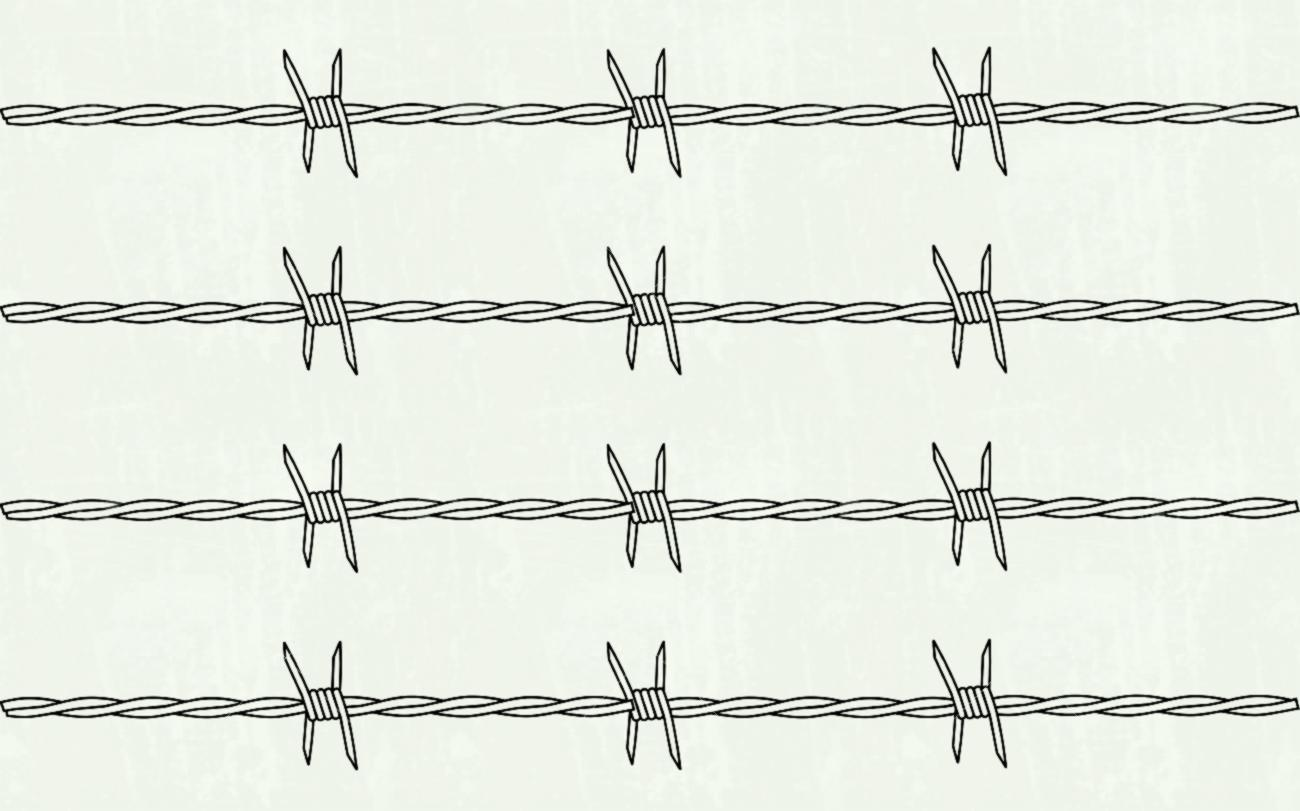 1300x811 Barb Wire Fence Vector Logo Lazttweet