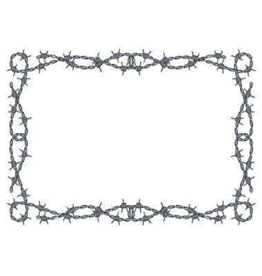 380x400 Barbed Wire Images Clip Art Barbed Wire Frame Vector 719201