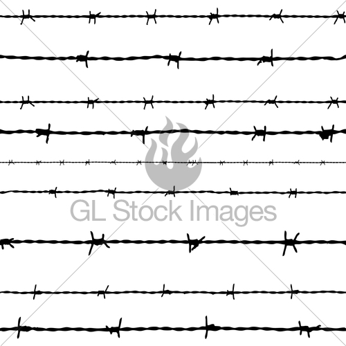 500x500 Barbed Wire. Vector Gl Stock Images