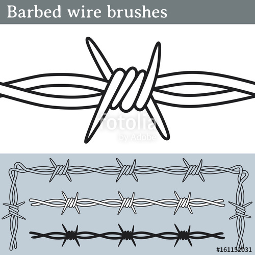 500x500 Barbed Wire Brushes. Brushes For Illustrator To Draw Barbed Wire