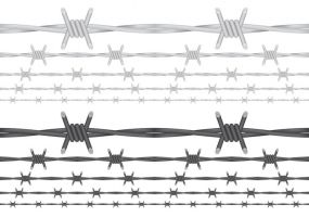 285x200 Barbed Wire Circle Border Free Vector Graphic Art Free Download