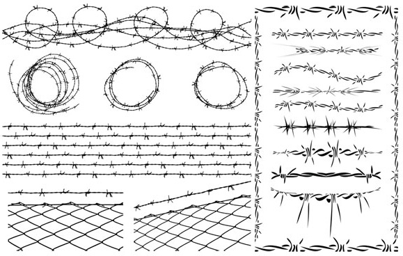 579x368 Barbed Wire Vector Free Vector In Encapsulated Postscript Eps