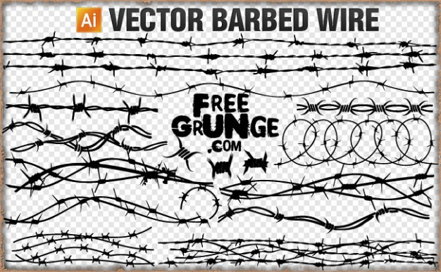 626x387 Vector Barbed Wire Vector Free Download