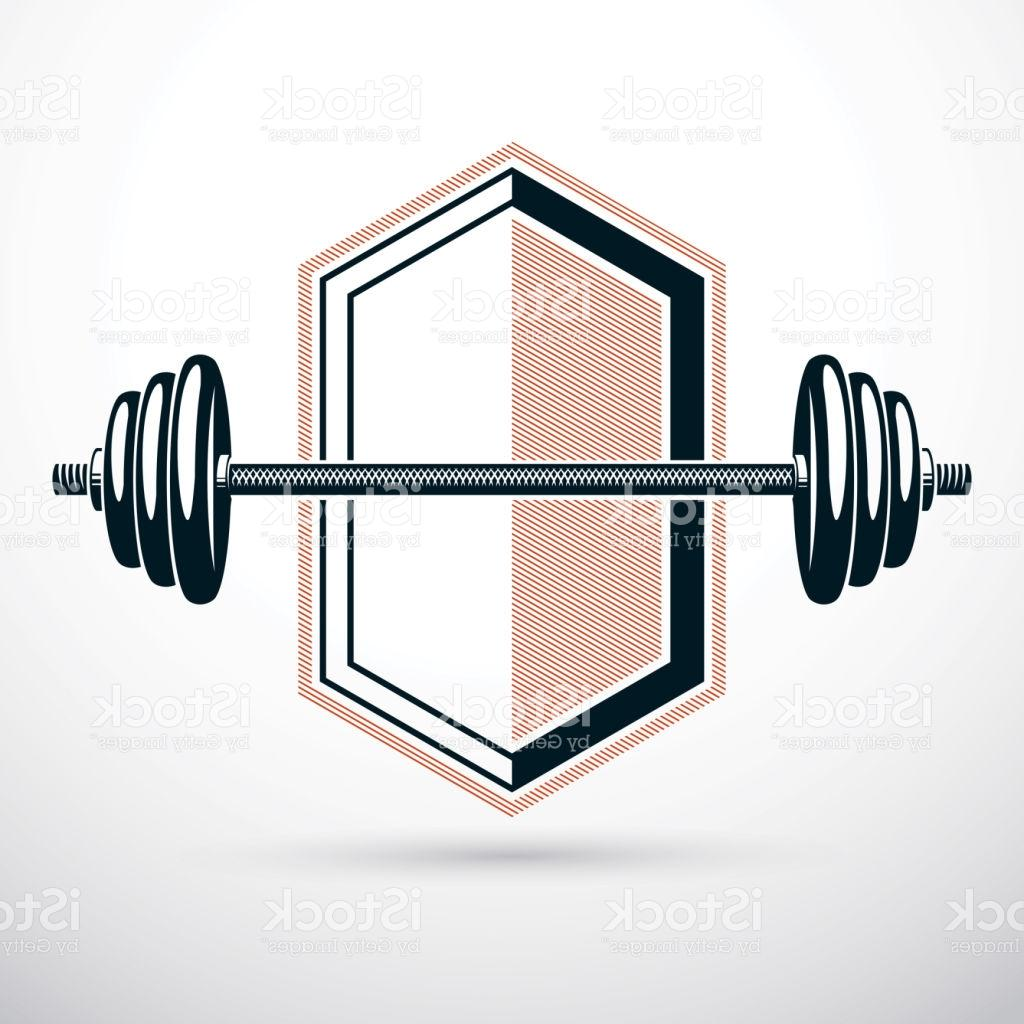 1024x1024 Best Free Barbell Vector Illustration Isolated On White