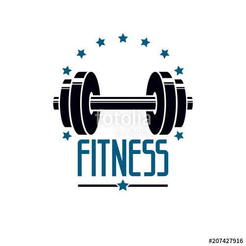 500x500 Gym And Fitness Logo Template, Retro Style Vector Emblem. With
