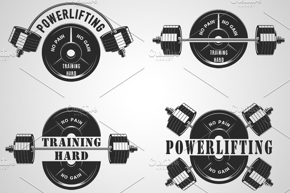 1160x772 Icons For The Gym And Powerlifting Vector Logo Design Icon