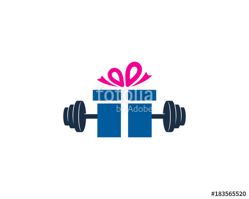500x400 Barbell Gift Icon Logo Design Element Stock Image And Royalty