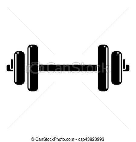 450x470 Silhouette Weight Barbell Trainer Player Vector Illustration.