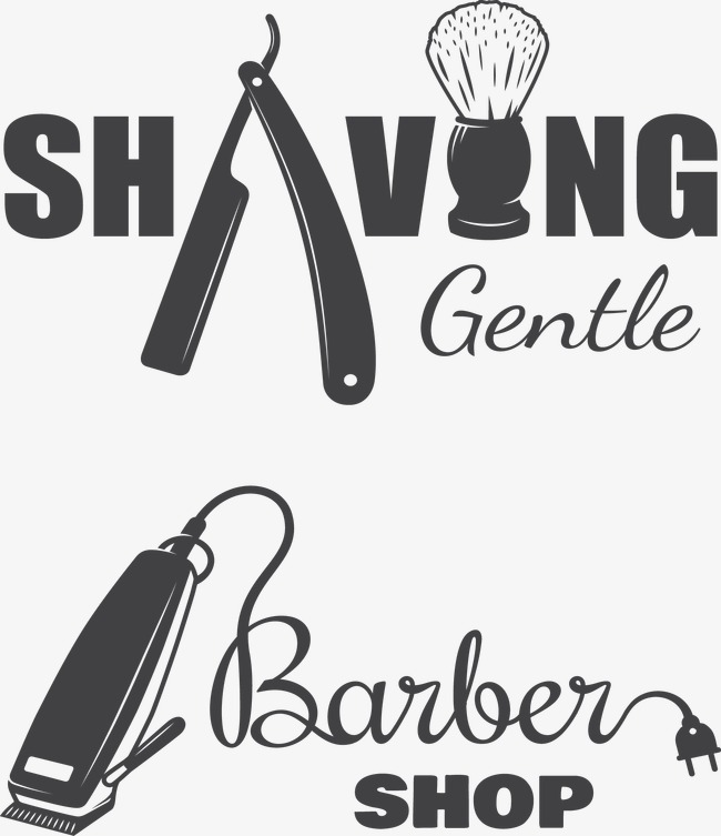 650x753 Creative Barber Shop Logo, Creative, Vector, Barbershop Png And