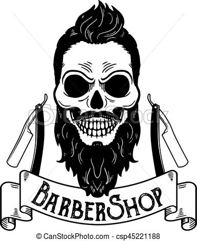 385x470 Vector Barbershop Emblem, Barbershop Logo Or Badge For Barber Shop