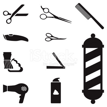 437x439 Barber Shop Royalty Free Vector Icon Set Royalty Free Vector Stock