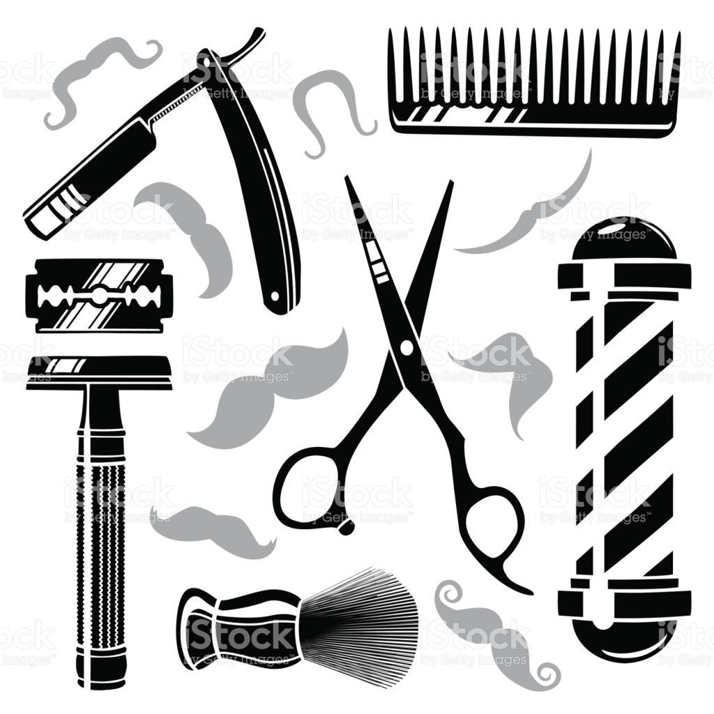 1024x1024 Barber Shop Tools Clipart Amp Barber Shop Tools Clip Art Images